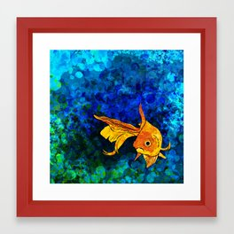 A fish! A fish! A fishy... OH!! Framed Art Print