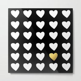 Golden Heart Metal Print