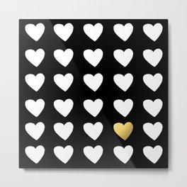 Golden Heart Metal Print