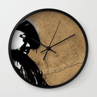 biggie smalls Wall Clocks featuring The Notorious B.I.G. - Biggie Smalls by Chad Trutt