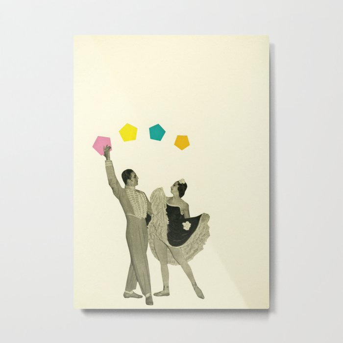 Throwing Shapes on the Dance Floor Metal Print