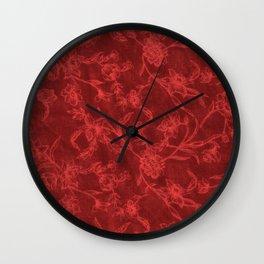 Flower Pattern (Red version) Wall Clock