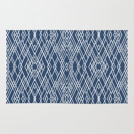 Art Deco Navy Rug