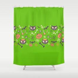 eek, boo, and treats Shower Curtain