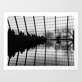 Refections at The Met Art Print