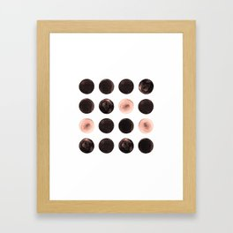 Rose Tinted Circles Framed Art Print