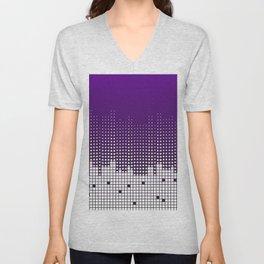 White rectangles Unisex V-Neck