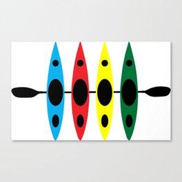 Four Kayaks | DopeyArt Canvas Print