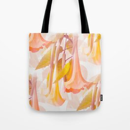 Beautiful Flowers and Leaves in Delicious Color White Background #decor #society6 #buyart Tote Bag