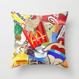 Fast and Fat Throw Pillow
