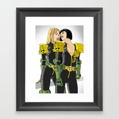 Judge on Judge love. 5 years in the cubes Framed Art Print