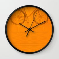 bike Wall Clocks featuring BIKE by TMSYO