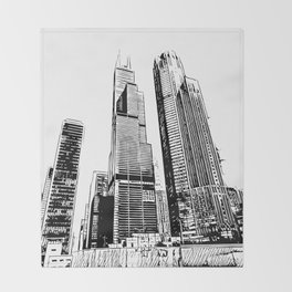 Chicago's Willis Tower Throw Blanket