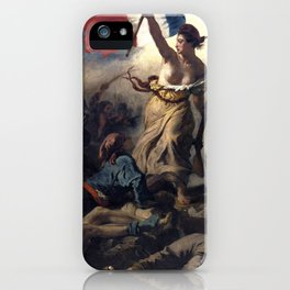 Liberty Leading the People by Eugène Delacroix (1830) iPhone Case