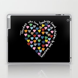 Hearts Heart Teacher Black Laptop & iPad Skin