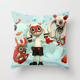Walter's Imaginarium Throw Pillow