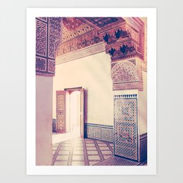 Light Streams in Marrakech Fine Art Print Art Print