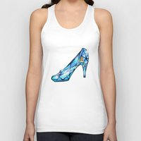 shoe Tank Tops featuring Cinderella Shoe by Chris Thompson, ThompsonArts.com