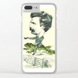 Mark Twain on a Frog Clear iPhone Case