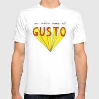 an endless supply of gusto White MEDIUM Mens Fitted Tee