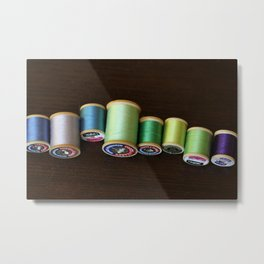Vintage Spools of Thread Metal Print