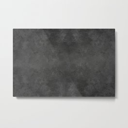 Black Faux Concrete Stone Texture Industrial Art Metal Print