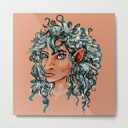 Female elf profile 1d ver. 2 Metal Print