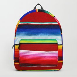 Colorful serape stripes Backpack