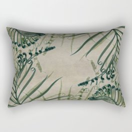 Cycas Leaves Abstract Rectangular Pillow