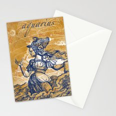 aquarius   wassermann Stationery Cards