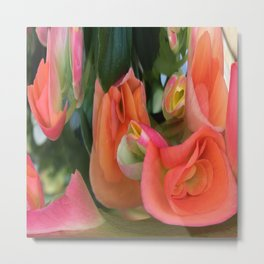 490 - Abstract Flower Design Metal Print
