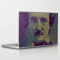 edgar allan poe Laptop & iPad Skins featuring Edgar Allan Poe. by Robotic Ewe