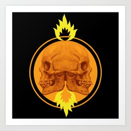 Burning Twins Art Print