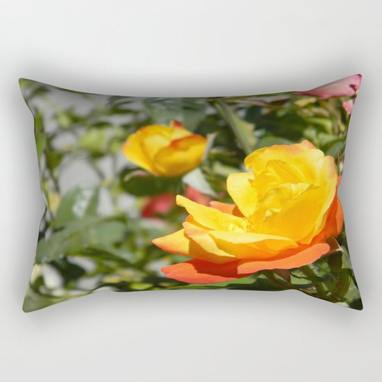 Blooming Gold... Rectangular Pillow
