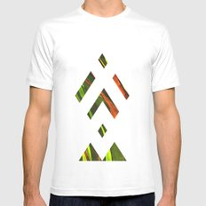 CUT TO THE CORE White Mens Fitted Tee MEDIUM