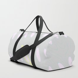 Geo Flow Gray Pink Yellow Duffle Bag