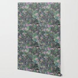 Cement Grass & Flowers / Vivid Wallpaper