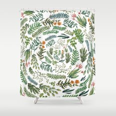 water color rotation garden Shower Curtain