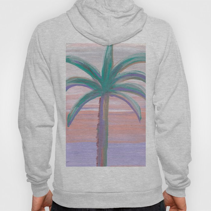 palm tree in front of a southwest sky Hoody