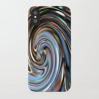 the wire iPhone & iPod Cases featuring Wire spiral by Hannah
