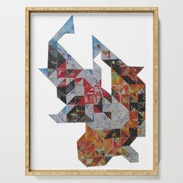 Koi carp mosaic Serving Tray
