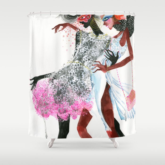 galina sokolova MODEL CITIZENS Shower Curtain