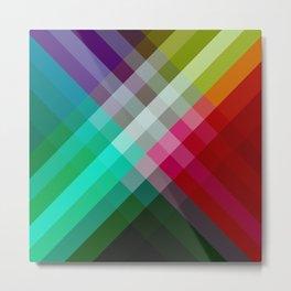Rainbow 3 color Metal Print