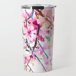Cherry Blossom pink floral spring design cherry blossom decor Travel Mug