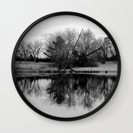 Tree Relection 1 Wall Clock
