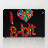 8 bit iPad Cases featuring i heart 8-bit by frederic levy-hadida