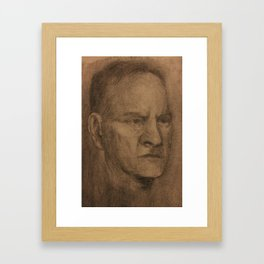 Portrait On Toned Fabriano Framed Art Print