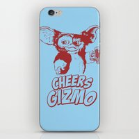 gizmo iPhone & iPod Skins featuring Cheers Gizmo by Roma