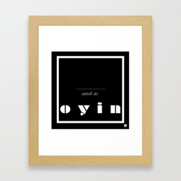 FOR OYIN FROM TAYO Framed Art Print