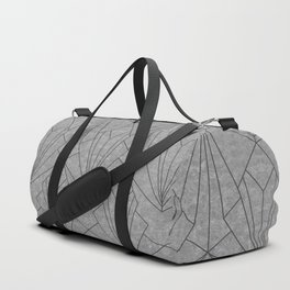 Art Deco in Black & Grey - Large Scale Duffle Bag